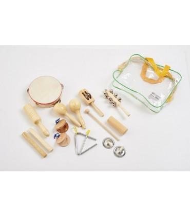 Zestaw drewnianych instrumentów