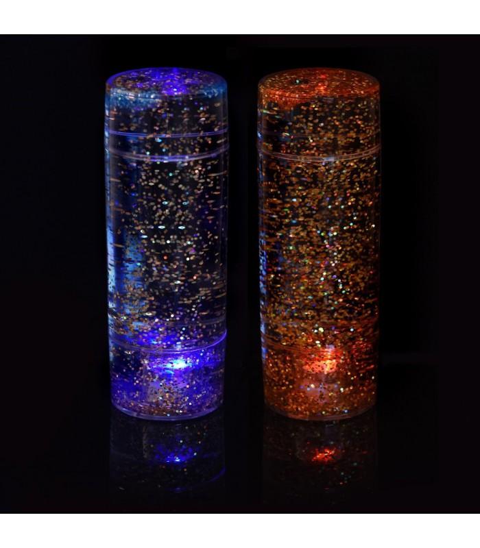Zestaw 2 brokatowych, świecącyh klepsydr