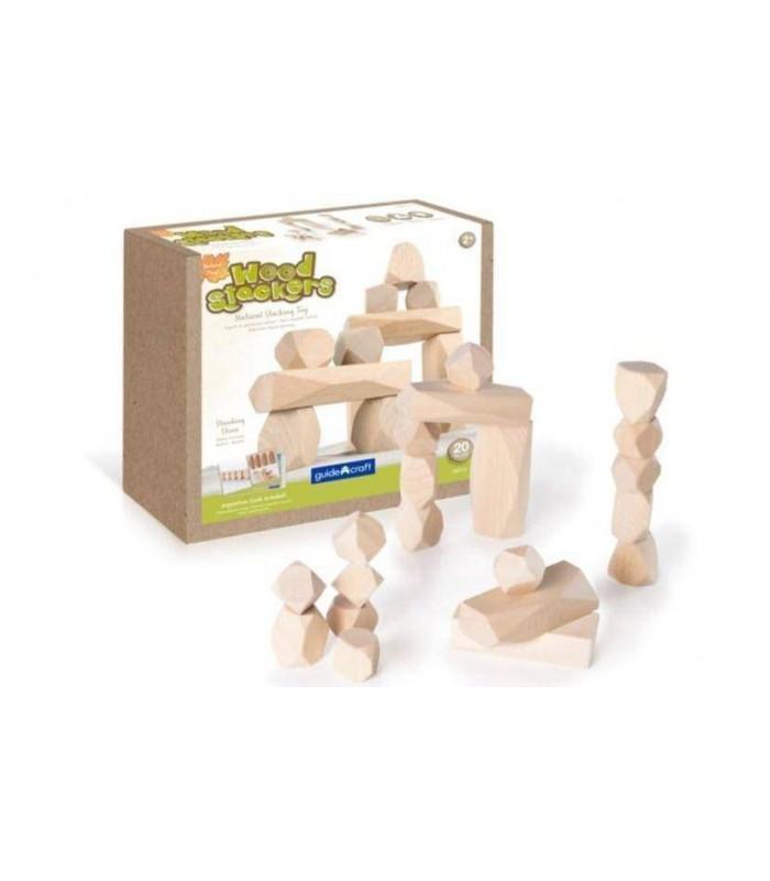 Drewniane klocki - kamienie