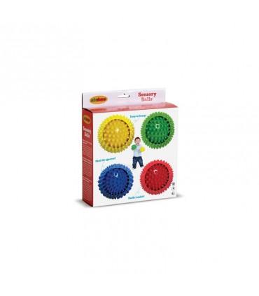 Zestaw 4 sensorycznych piłek (10 cm)