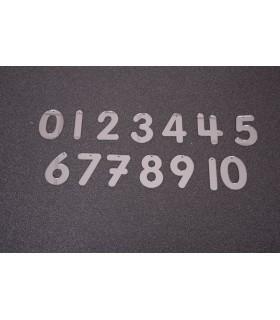 Cyfry 70 mm bezpieczne lustro