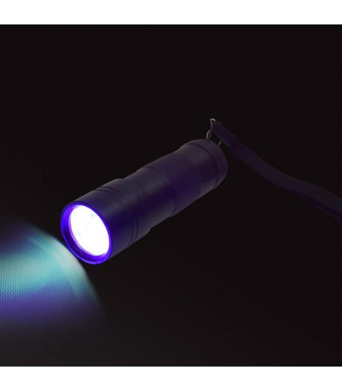 Duża latarka led UV