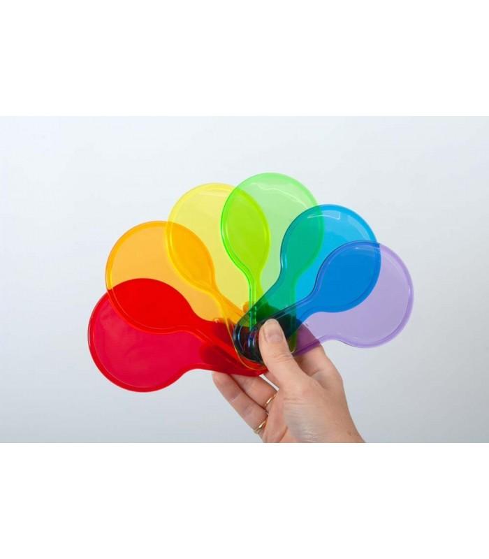 Półprzezroczyste kolorowe łopatki