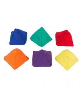 Zestaw 6 woreczków z grochem piramidy