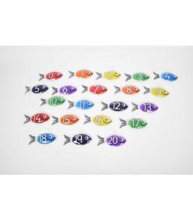 Żelowe rybki - liczby