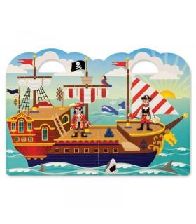 Wielorazowe wypukłe naklejki: Piraci
