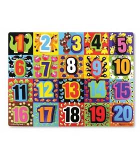 Drewniane puzzle cyfry