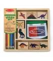 Zestaw stempelków - dinozaury