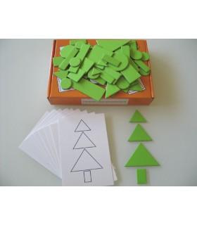 Zestaw Układanki z figur geometrycznych