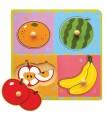 Drewniane Puzzle Owoce Niespodzianka