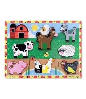 Puzzle drewniane-farma