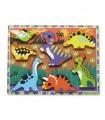 Puzzle drewniane-dinozaury