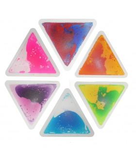 Zestaw 6 podłóg z cieczą (trójkąty)