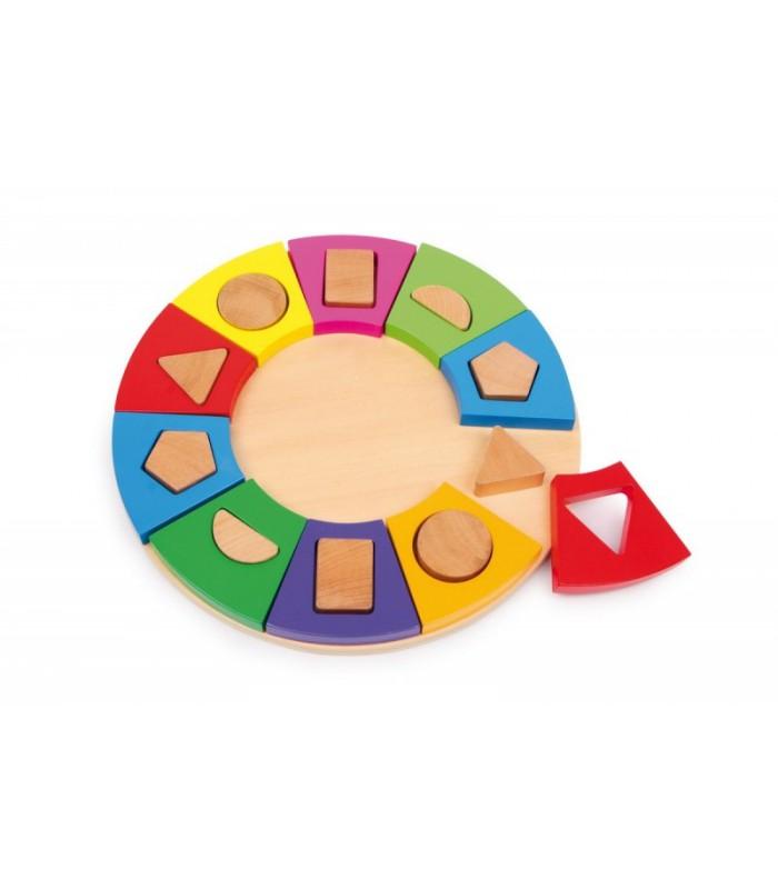 Kolorowe koło rozpoznawania kształtów