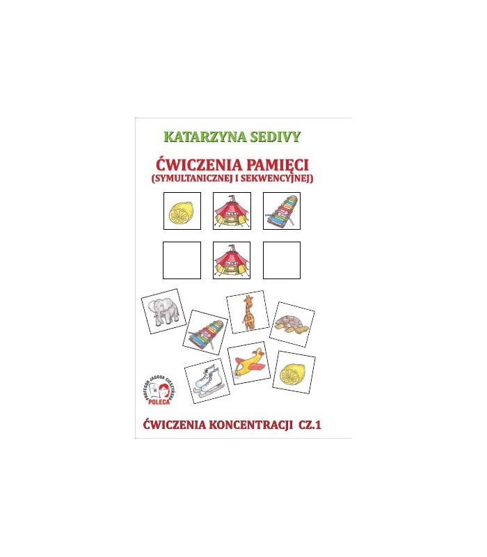 Karty ćwiczeń - Ćwiczenia pamięci - Ćwiczenia koncentracji cz. 1