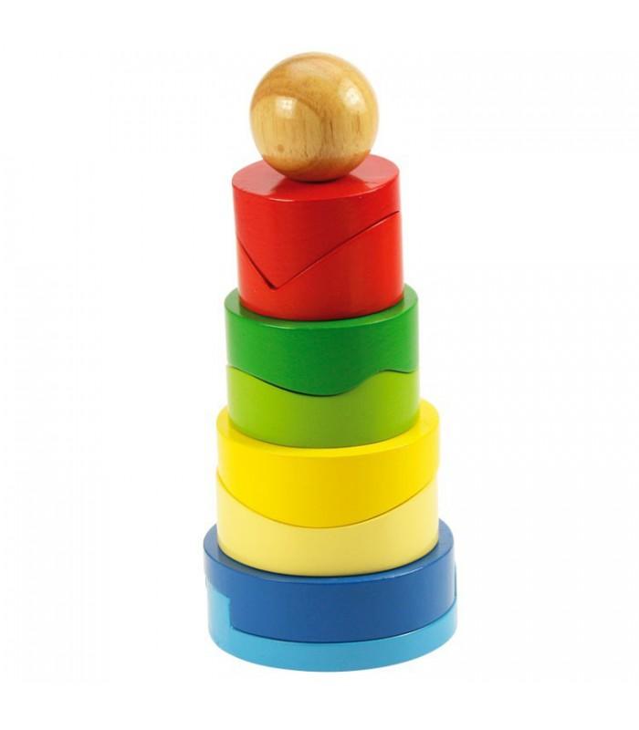 Wieża. Dopasuj kolory i kształty.