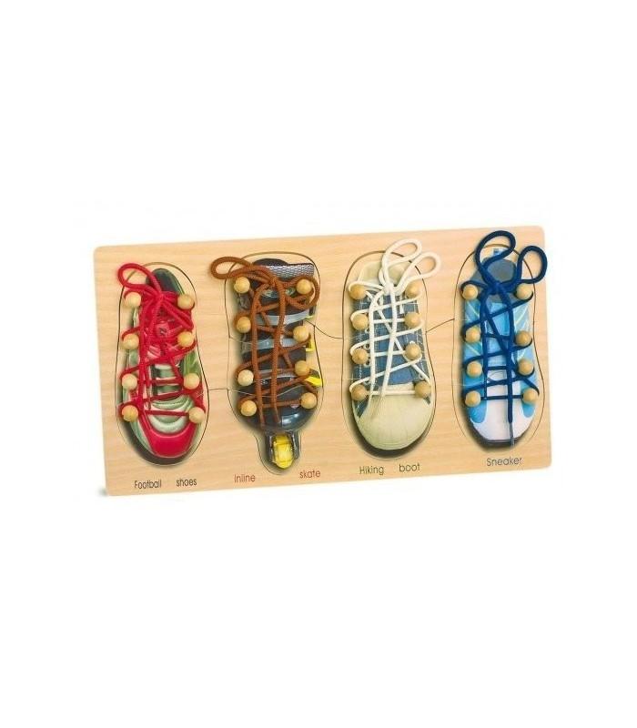 Nauka sznurowania butów