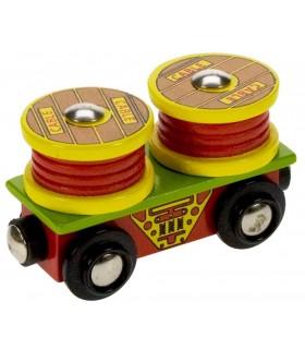Wagon z rolkami kablowymi