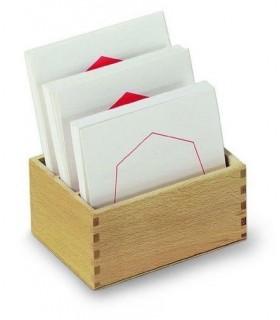 Karty z figurami geometrycznymi
