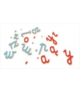 Ruchomy alfabet. Małe litery.