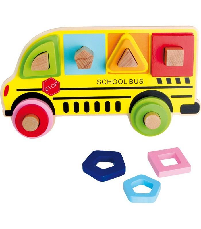 Autobus szkolny - dopasuj figury