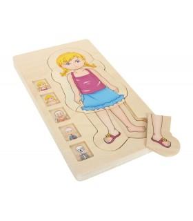 Puzzle Anatomia Dziewczynki