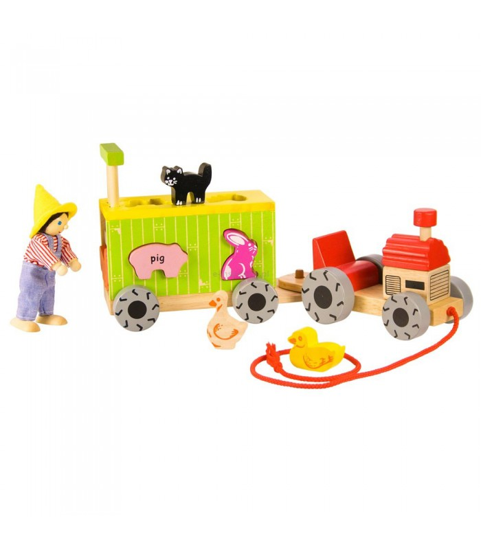 Sorter klocków traktor z przyczepą