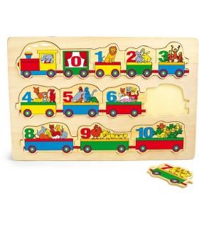 Puzzle pociąg cyferek