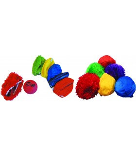 Fakturowe pokrowce do piłek z kuleczkami