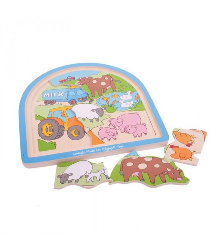 Puzzle warstwowe farma