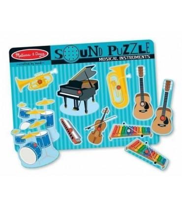 Puzzle dźwiękowe instrumenty