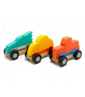 3 piankowe samochodziki