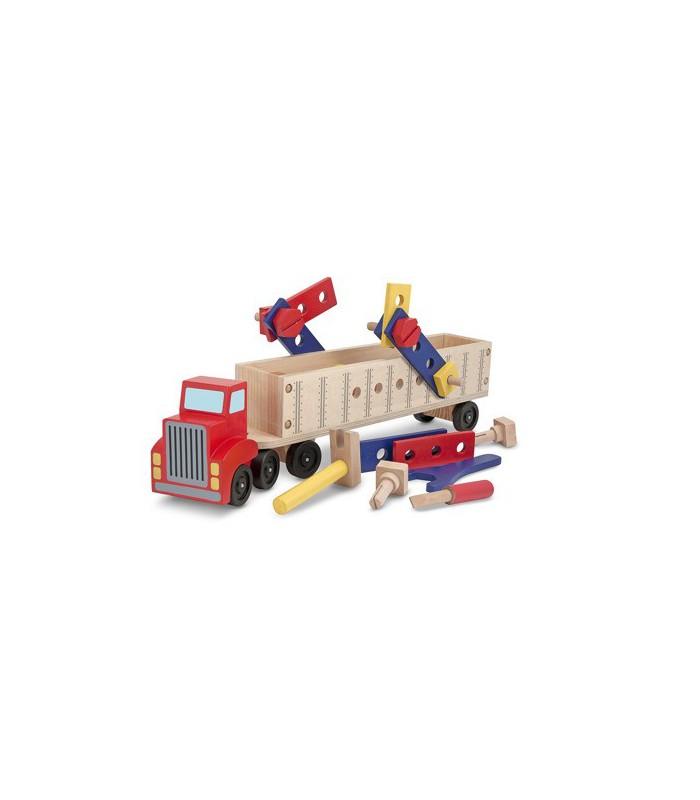 Drewniana ciężarówka. Zestaw dla konstruktora
