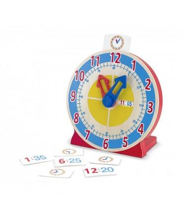 Drewniany zegar do nauki godzin