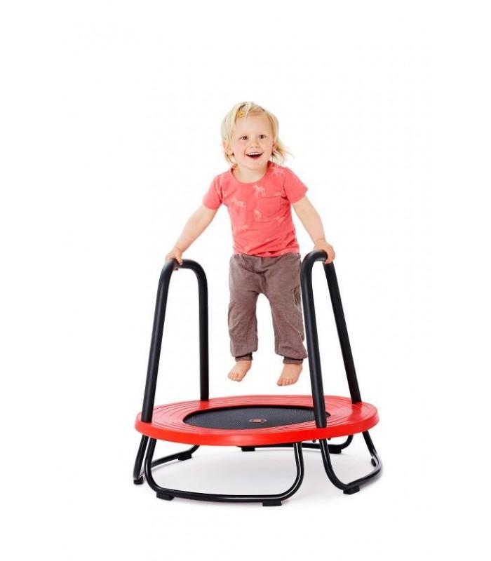 Trampolina dla dzieci z poręczami