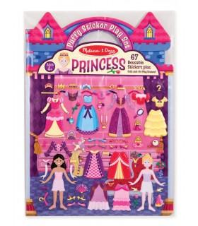 Wielorazowe wypukłe naklejki księżniczki