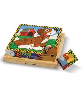 Sześcienne puzzle - zwierzątka