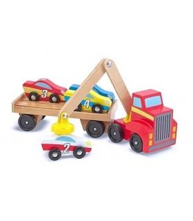 Drewniana laweta samochodowa