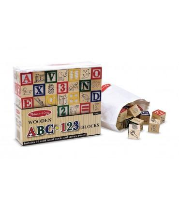 Drewniane klocki ABC/123