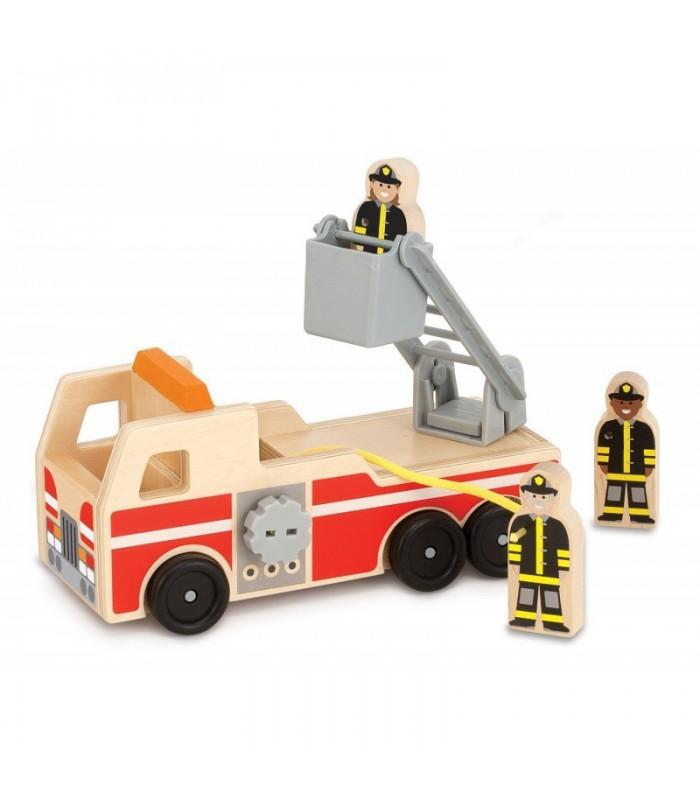 Drewniany wóz strażacki