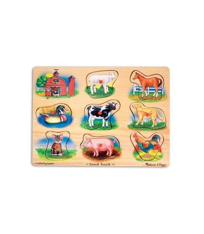 Puzzle dźwiękowe farma