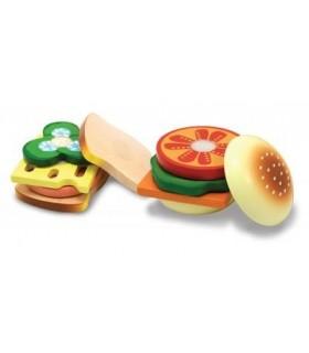 Drewniany zestaw - zrób kanapkę