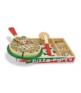 Drewniany zestaw - pizza