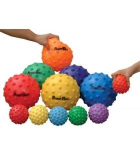 Lekka piłka z wypustkami - 18 cm
