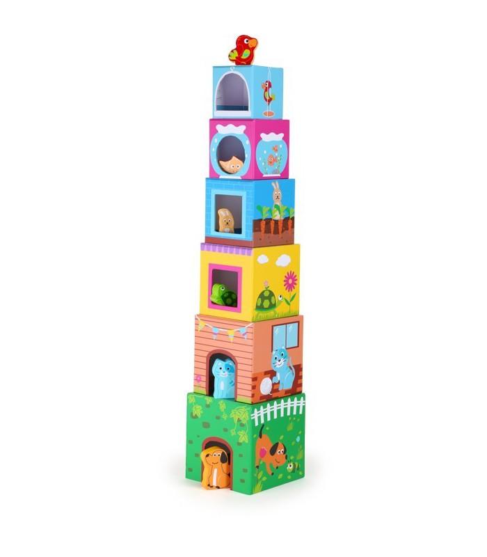 Wieża sensoryczna z figurkami