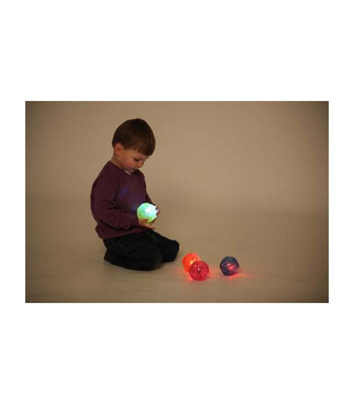 Zestaw 4 sensorycznych piłek świecących