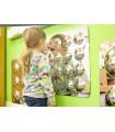 Lustrzany panel akrylowy - 16 baniek