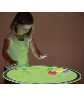 Panel podświetlany okrągły - zmienne światło