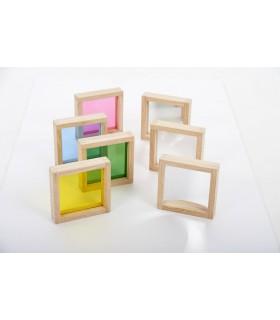 Tęczowe klocki kwadraty