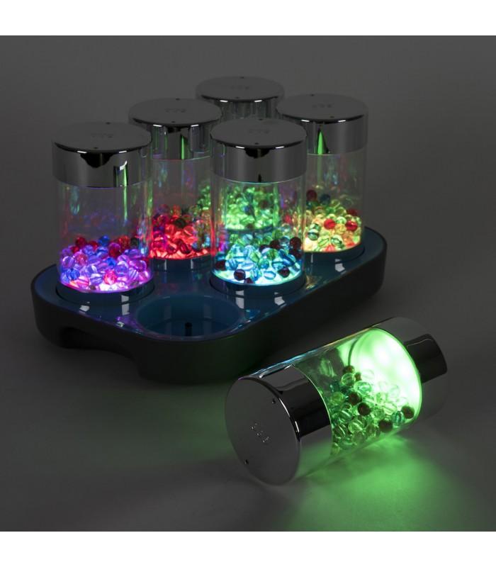 Zestaw świecących cylindrów
